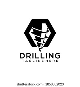 Drilling Mining Bore Business Company Logo Template Vector