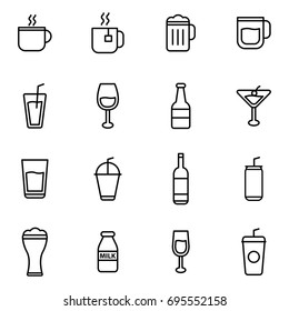 Drink And Beverages Flat Line Icon