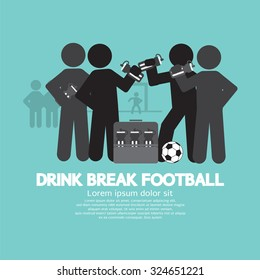 Drink Break Football Symbol Vector Illustration