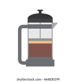 drink coffee kettle pot beverage icon. Isolated and flat illustration. Vector graphic