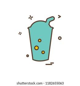 Drink icon design vector