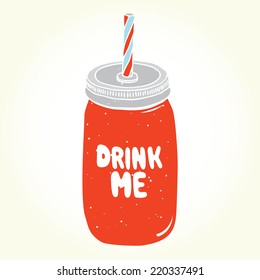 """""""Drink me"""" jar isolated vector"""