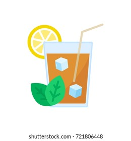 drink with mint and lemon
