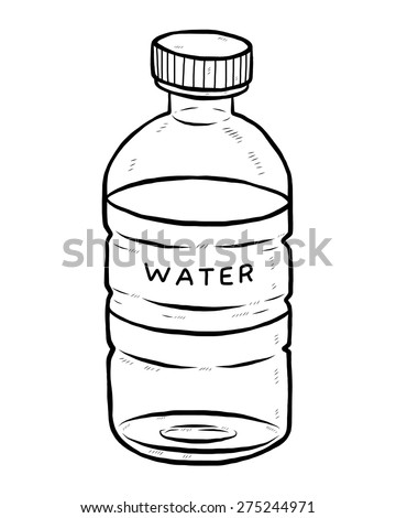 Black And White Drawing Of Bottled Water Free Download Oasis Dl Co
