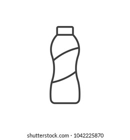 Drink yogurt bottle line icon.