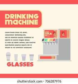 drinking machine with glasses flat