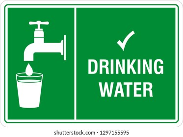 Drinking water sign
