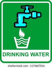 drinking water, sign vector