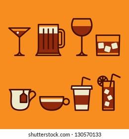drinks & beverages icons set
