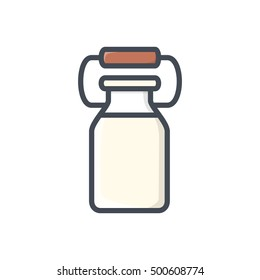 Drinks colored icon Milk Jar