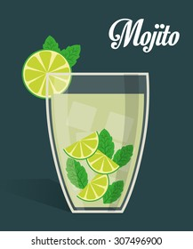 Drinks digital design, vector illustration eps 10.
