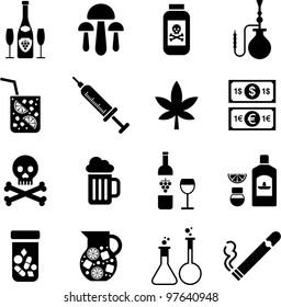 drinks and drugs icons