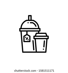Drinks Icon Outline Vector. Holiday Sale Icons. Online Shop Ikon.