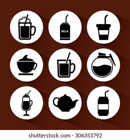 drinks icons design, vector illustration eps10 graphic