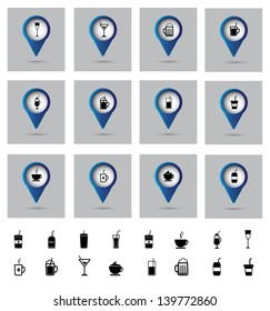 drinks icons over gray background vector illustration
