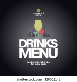 Drinks Menu Card Design template.