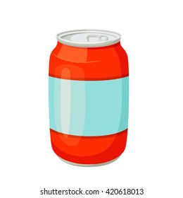 Drinks and soda jars vector illustration. Beverage packaging. Cola, water, beer, soft.