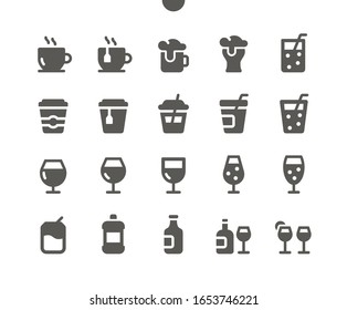 Drinks v1 UI Pixel Perfect Well-crafted Vector Solid Icons 48x48 Ready for 24x24 Grid for Web Graphics and Apps. Simple Minimal Pictogram