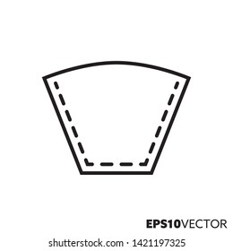 Drip coffee filter bag line icon. Outline symbol of paper filter and coffee brewing equipment. Kitchen utensil flat vector illustration.