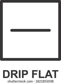 DRIP FLAT ICON, SIGN AND SYMBOL