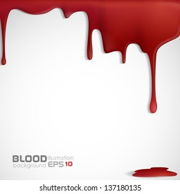Dripping blood. Vector illustration. Eps 10.