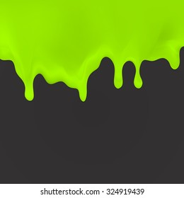 Dripping green, cream, paint on dark back. illustration for your projects, invitations, cards, T-shirts