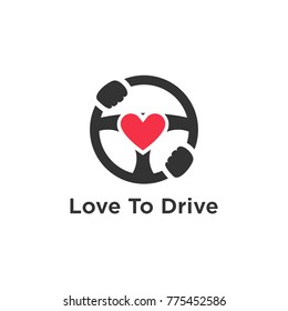 Drive and car logo illustration isolated template