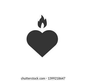 drive heart icon simple vector illustration