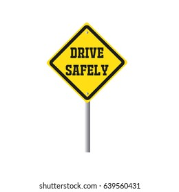 Drive safely traffic security concept