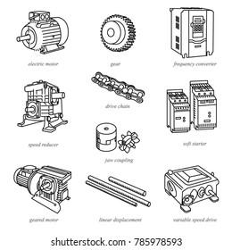 Vectores, imágenes y arte vectorial de stock sobre Engine Parts Name