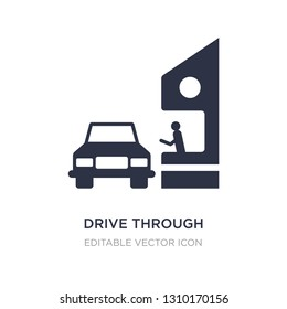 drive through icon on white background. Simple element illustration from Food concept. drive through icon symbol design.