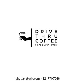 Drive thru coffe logo.