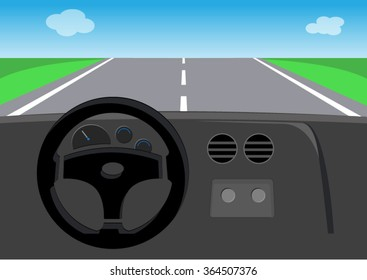 drive view of car