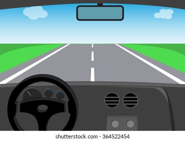 drive view of car on the road