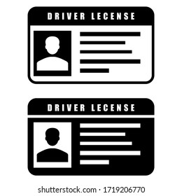 Driver licence vector icon. Driver id card illustration sign collection. card symbol.
