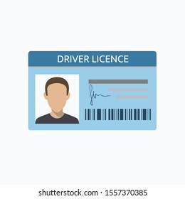 Driver license document isolated on white. Vector illustration