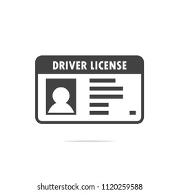 Driver license icon vector transparent