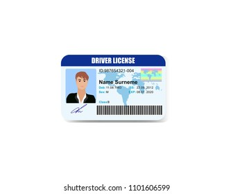 Driver License isolated