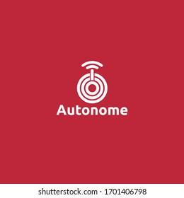 Driverless Car Logo Autonome Template