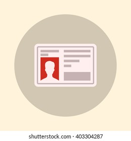 Driver's license, license for driving a vehicle. Icon vector illustration, color.