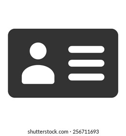 Driver's license identification / ID card flat vector icon for apps and websites