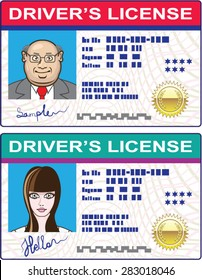 Driver's License Vector file Mans and Girls