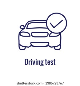 Drivers Test & License Icon Set and Web Header Banner