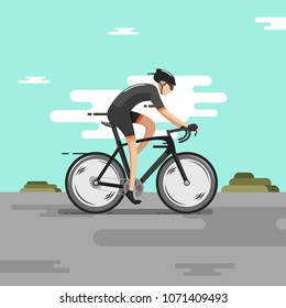Driving bike with fast speed