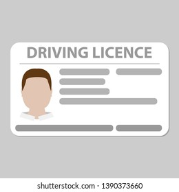 driving licence plastic card plain grey background vector
