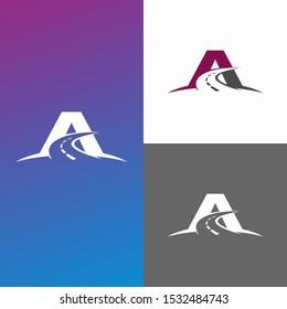 Driving School Creative Logo Symbol Design Template