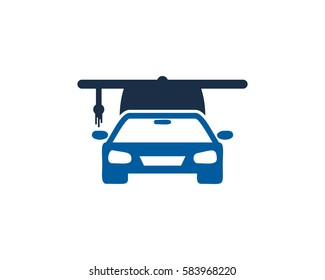 Driving School Education Logo Design Element