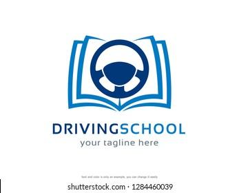 Driving School Logo Template Design Vector, Emblem, Concept Design, Creative Symbol, Icon