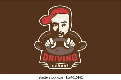 Driving school. Vector illustration