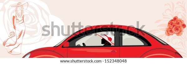 driving-woman-red-car-on-600w-152348048.